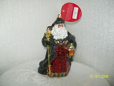 Christopher Radko Ebony Clad Mr. Claus Gem Glass Ornament 1020255