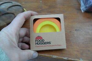 FOOD HUGGERS EXTEND LIFE OF FOODS X 2 DIFFERENT SIZES N I B ORANGE & YELLOW W@W