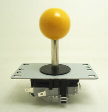 8 way type NO microswitch arcade game joystick with YELLOW for game machine