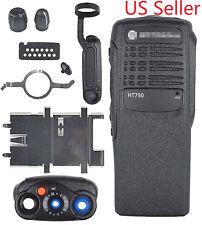 Black Replacement Repair Kit Case Housing for Motorola HT750 portable Radios