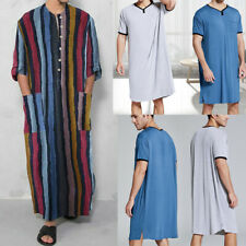 Men's Nightshirts Sleep Shirts Tops Short Sleeve Robes Sleepwear Long Nightgown