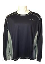 Mens Habit Upf 30+ Long Sleeve T-Shirt (3Xl) Navy/Gray C3356