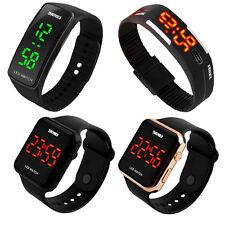 Touch Screen LED  Digital Uhr Quarzuhr Sportuhr Silikon Herren Damen Armbanduhr