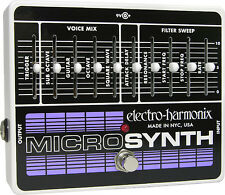 Electro-Harmonix EHX MicroSynth Analog Synthesizer Guitar Effects Pedal