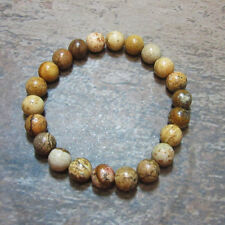 Picture Jasper 8mm Stretch Bead Bracelet  - Fast, Free US Shipping