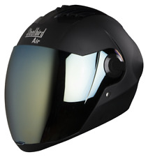Steelbird Sba -2 Matt Black POLY CARBONATE Black Full Face Bike Helmet Free Ship