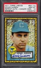 2011 Howie Judson Topps Lineage Canary Diamond Refractor Auto /10 Graded PSA 10