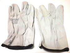"""1 PAIR - LOW VOLTAGE 10"""" LEATHER LINEMAN GLOVES - SIZE 11 - EXTRA LARGE - USA"""