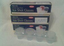 Congelar su propio hielo Vasos De Chupito x 12 *** *** Nuevo y Sellado