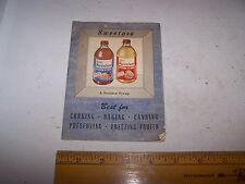 Vintage STALEY'S SWEETOSE SYRUP Recipe Booklet DECATUR ILLINOIS Canning Freezing