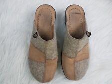 Fly Flot Womens Shoes Size 7 (37) Clogs Tan Shoes