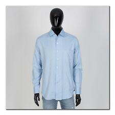 LORO PIANA 515$ Andre Super Soft Cotton Sport Shirt In Light Blue