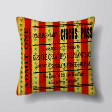 Circus Ticket Pass Printed Cushion Covers Pillow Cases Home Decor or Inner