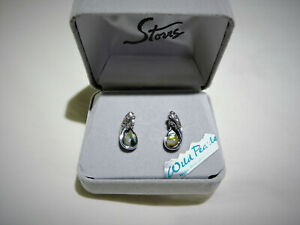 Designer Wild Pearle Abalone Hypo-Allerganic Post Pierced Earrings - in box NEW