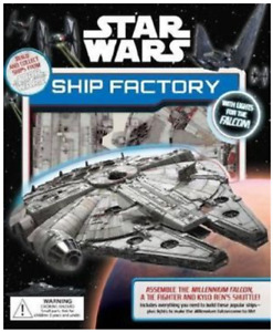 Star Wars The Force Awakens SHIP FACTORY make 3 ships Millennium Falcon + 2