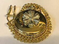 Fiore Peltro TG130 su un orologio da taschino in oro al quarzo Fob
