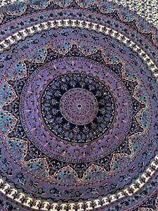 Purple Mandala Tapestry