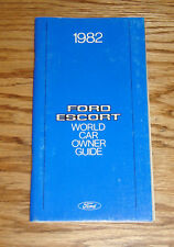 Original 1982 Ford Escort Owners Operators Manual 82