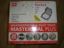 Outdoor weatherproof MK IP66 Masterseal Plus RCD Socket 13A 2 Gang RCD Socket