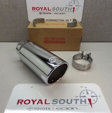 toyota tundra 2012 - 2019 chrome exhaust tip genuine accessory