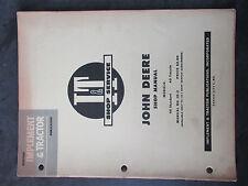 John Deere 40 Standard 40 Tricycle Tractor Shop Manual