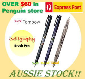 [RESTOCK] TOMBOW Fudenosuke Calligraphy Brush Pen Soft/Hard/Dual Aussie Stock