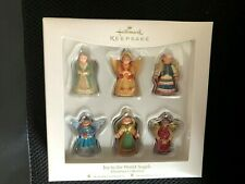 Hallmark 2007 Joy To The World Angels Miniature Collection Of Six Ornaments