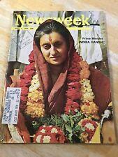 Newsweek Magazine Indira Gandhi April 4 1966 Excellent Condition
