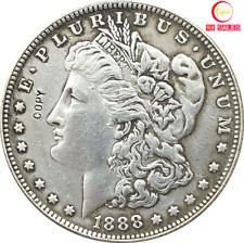 1888-CC US MORGAN SILVER DOLLAR OLD Coin-1oz.
