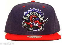 New NBA Mitchell & Ness Snapback Toronto Raptors Denim Harry 2 Tone Hat