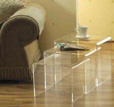 Homcom 3er Set Beistelltisch Wohnzimmertisch Couchtisch Tisch Acrylglas Gebogen