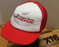 """VINTAGE """"OREGON STATE FRYER"""" CHICKEN POULTRY INDUSTRY HAT RED/WHITE VGC X16"""