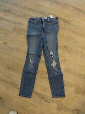 Damen Jeans---von Hollister--W 27---blau mit Löchern---