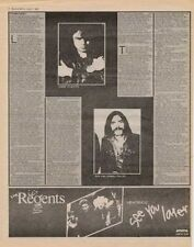 Motorhead Lemmy Interview/article 1980