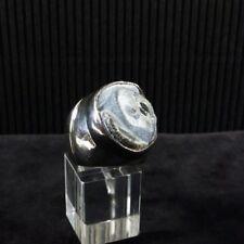 Ring Gr. 57 Silber 925 mit Chalzedon Rose