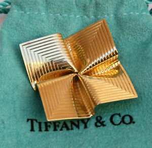 MAGNIFICENT TIFFANY & CO 14K GOLD  BROOCH / NECKLACE