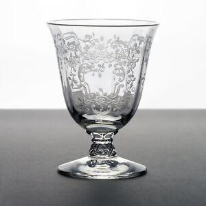 "Fostoria Meadow Rose Oyster, Fruit Cocktail Glass, Vintage Elegant Etched 3 5/8"""