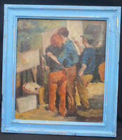 1950s LONDON / CAMDEN GROUP IMPRESSIONIST OIL PAINTING signed B.D ( B.Dunstan )