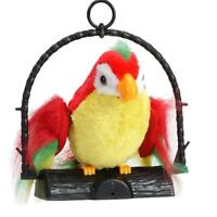 Waving Wings Talking Parrot Repeat Talk Imitates You Say Funny Toy Speaking Gift