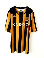 Hull City Home Shirt 2008. XXL. Umbro. Orange Adults Football Top Only Short.
