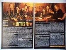 COUPURE DE PRESSE-CLIPPING :  EDGUY [2pages] 2004 Tobias Sammet,Hellfire Club