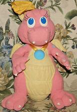 """Playskool Plush Talking Cassie Pink Dragon DragonTales Talks Lights 1999 Toy 12"""""""