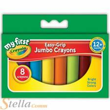 Crayola My First Jumbo Wax Crayons Childrens Easy Grip Chunky Colouring Art