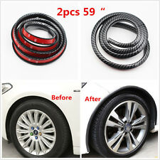 2× Car Exterior Fenders Flares Extension Wheel Eyebrow Arch Protector Lip Trim