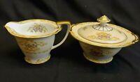 Noritake China Acacia Japan Creamer and Sugar Bowl Set 1933-1942
