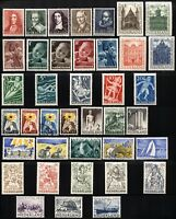 NETHERLANDS Sc# B175-B213 SEMI-POSTAL Stamps Postage Collection 1947-1950 MLH OG
