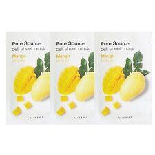 Missha Pure Source Cell Sheet Mask Mango 21g 3pcs Moisture Smoothing Elasticity