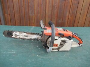 """Vintage STIHL 031AV ELECTRONIC QUICKST Chainsaw Chain Saw with 16"""" Bar Log Spike"""