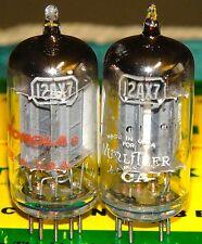 Balanced Matched Pair Rca 12ax7 Ecc83 Vacuum Tubes  Long Plated D-Getter 1959