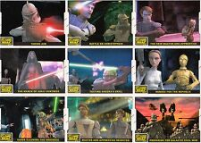 STAR WARS CLONE WARS MOVIE 2008 TOPPS ANIMATION CEL INSERT CARD SET 1 - 10